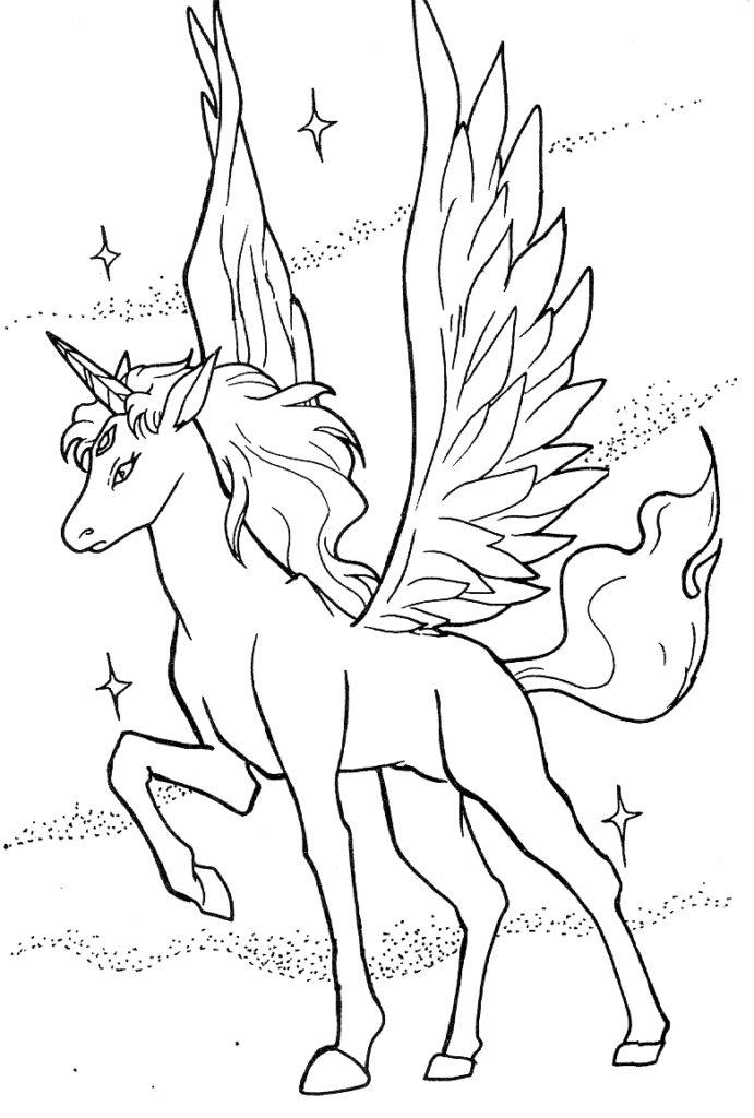 Pegasus coloring #3, Download drawings
