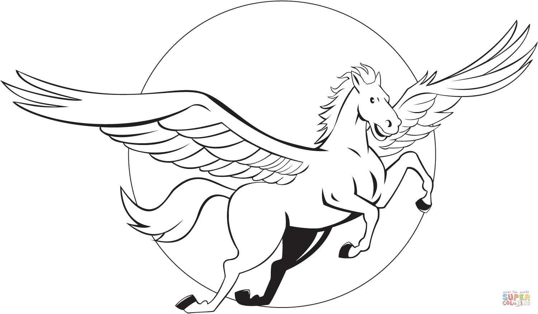 Pegasus coloring #9, Download drawings