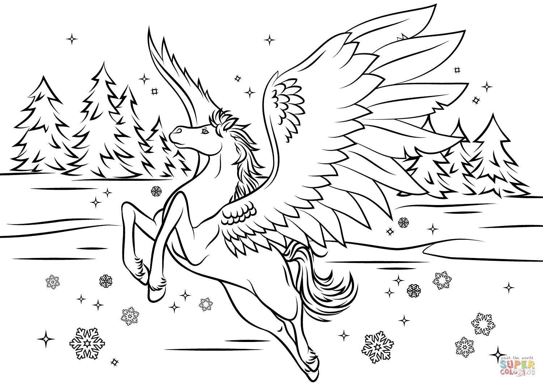 Pegasus coloring #10, Download drawings
