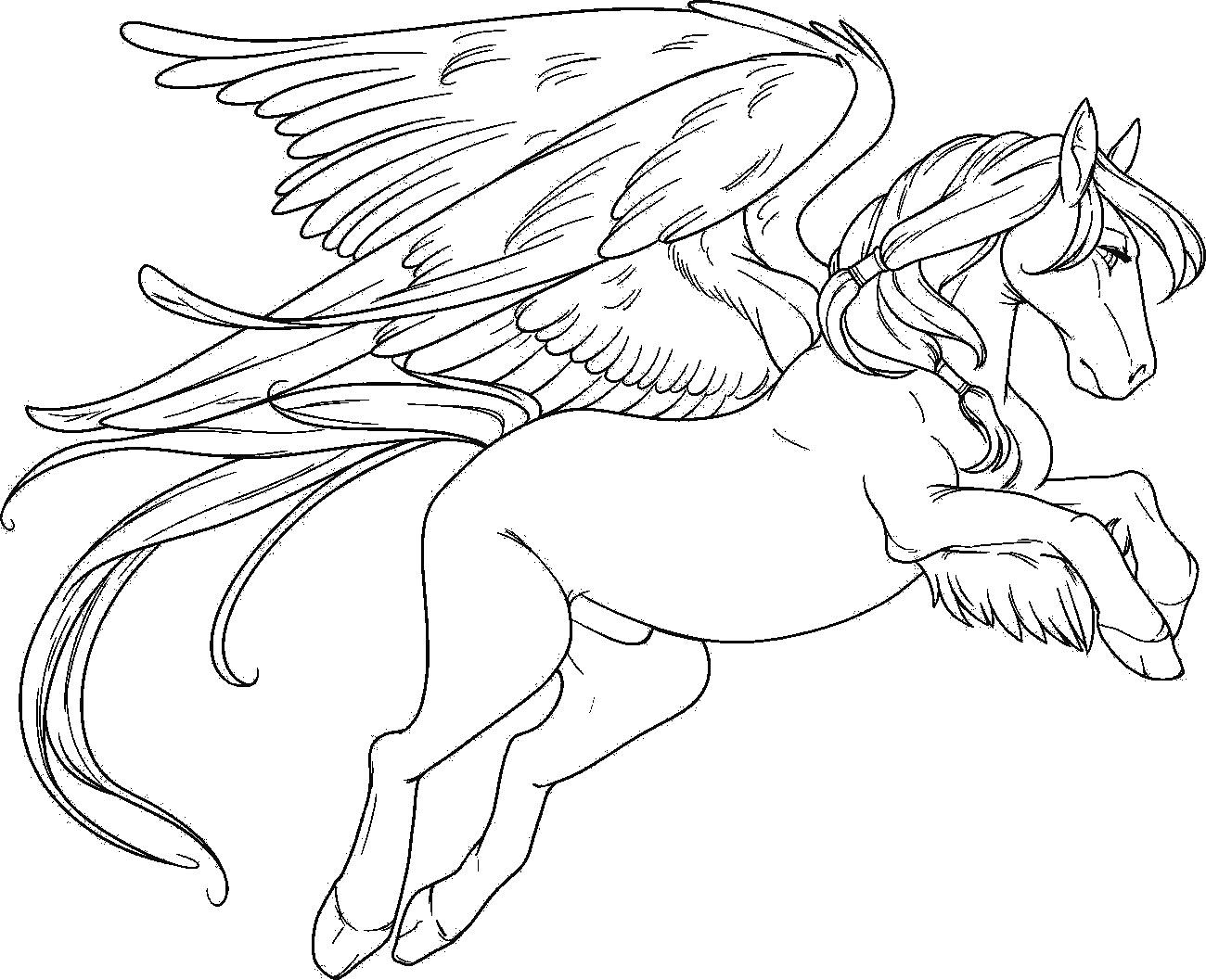 Pegasus coloring #6, Download drawings