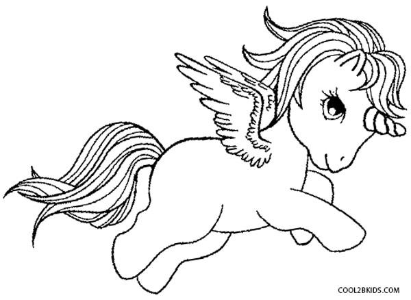 Pegasus coloring #1, Download drawings