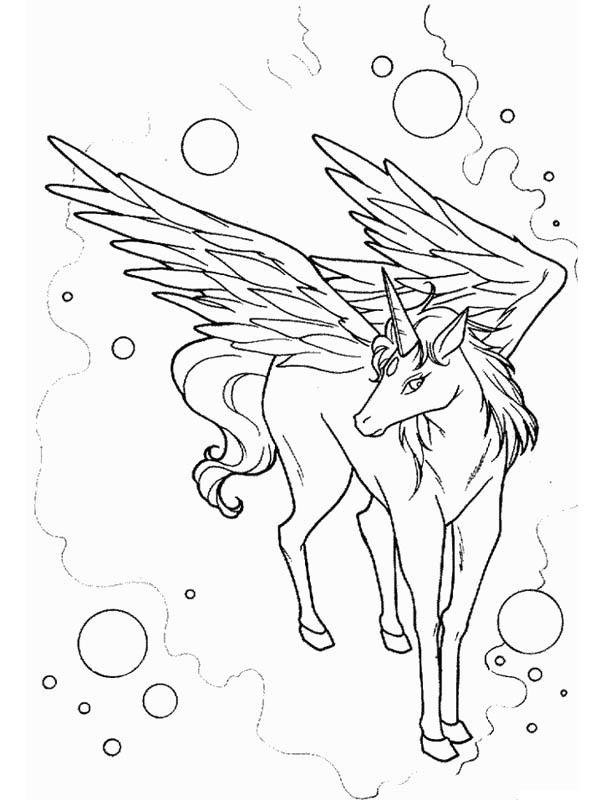 Pegasus coloring #8, Download drawings