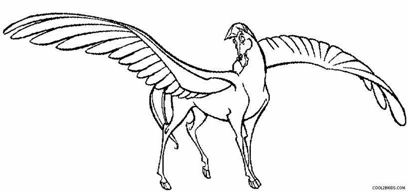 Pegasus coloring #4, Download drawings