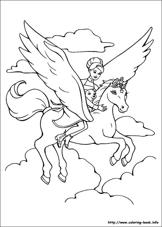 Pegasus coloring #2, Download drawings