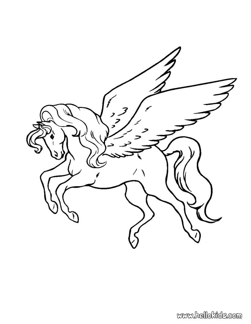Pegasus coloring #13, Download drawings