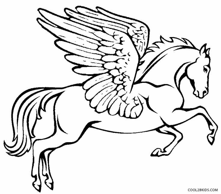 Pegasus coloring #19, Download drawings