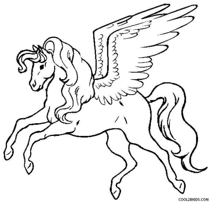 Pegasus coloring #16, Download drawings