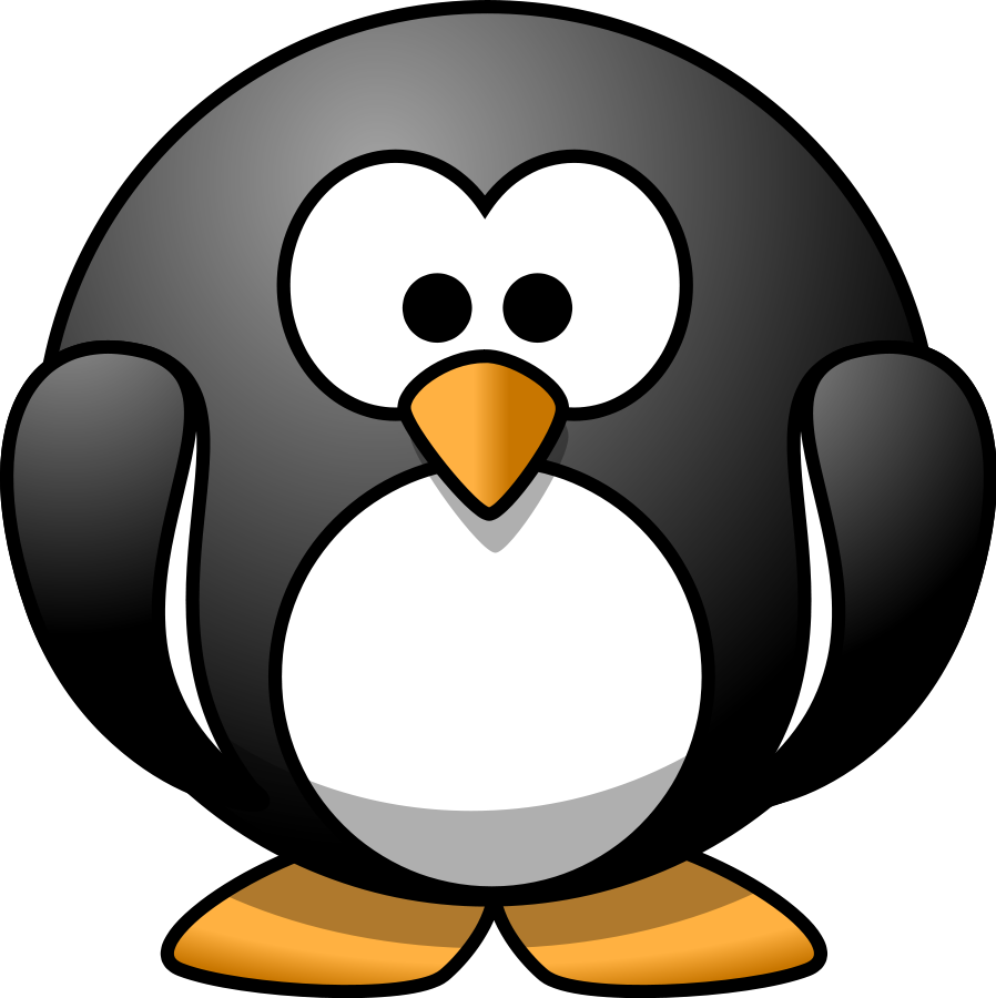 Penguin clipart #1, Download drawings