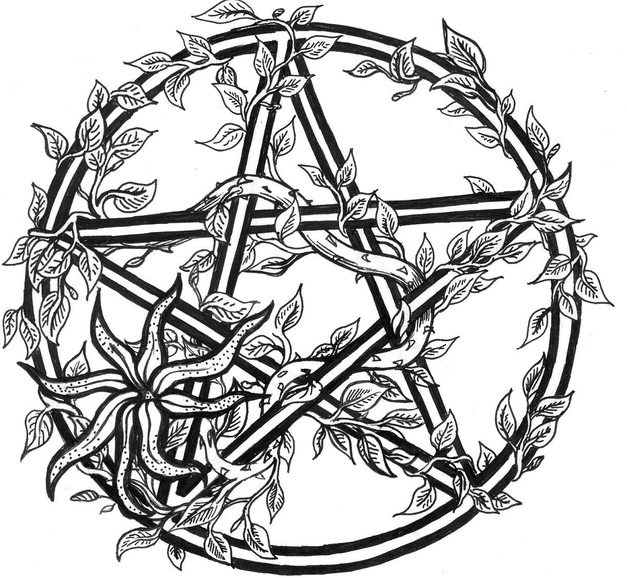 Pentagram coloring #1, Download drawings