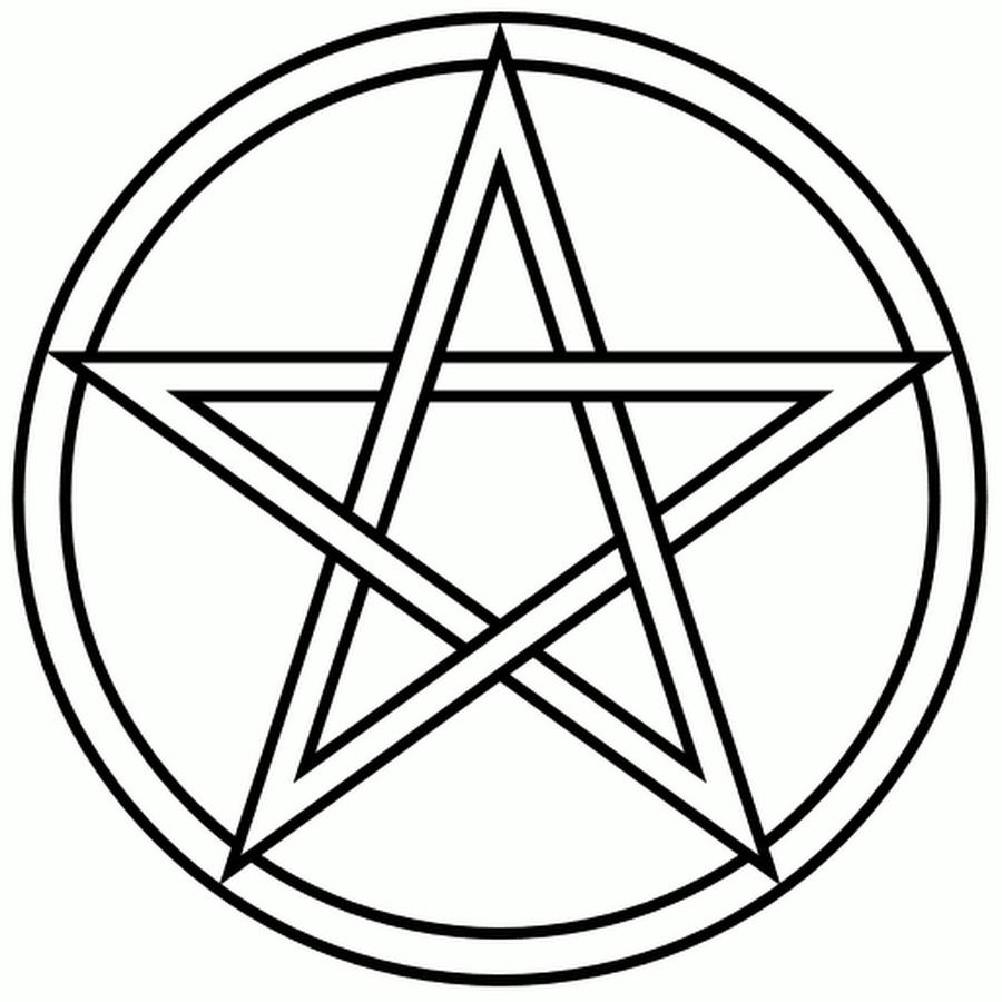 Pentagram coloring #17, Download drawings