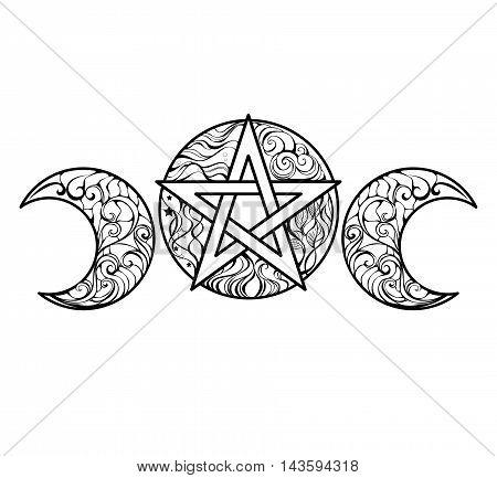 Pentagram coloring #12, Download drawings