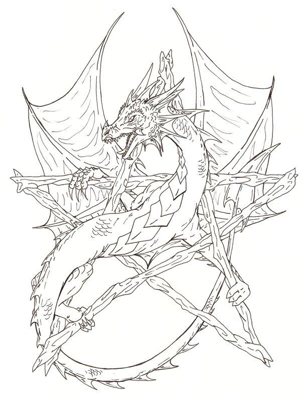 Pentagram coloring #15, Download drawings