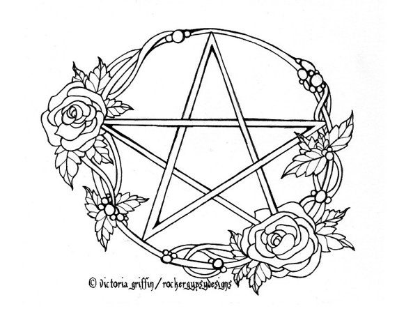 Wiccan Coloring Download Wiccan Coloring