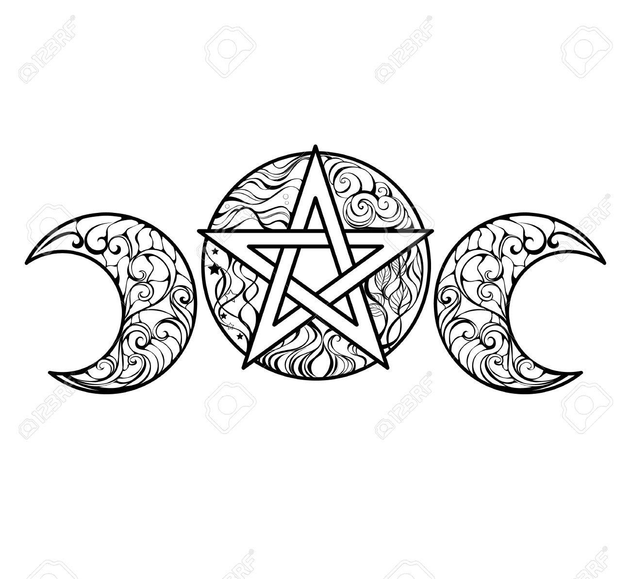 Pentagram coloring #16, Download drawings