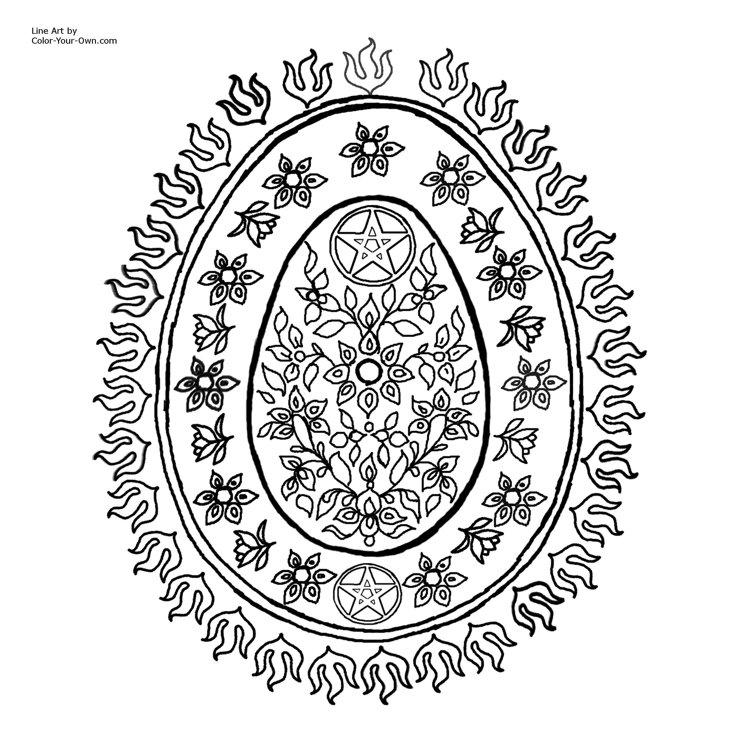 Pentagram coloring #14, Download drawings
