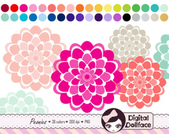 Peony clipart #9, Download drawings