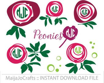 Peony svg #422, Download drawings