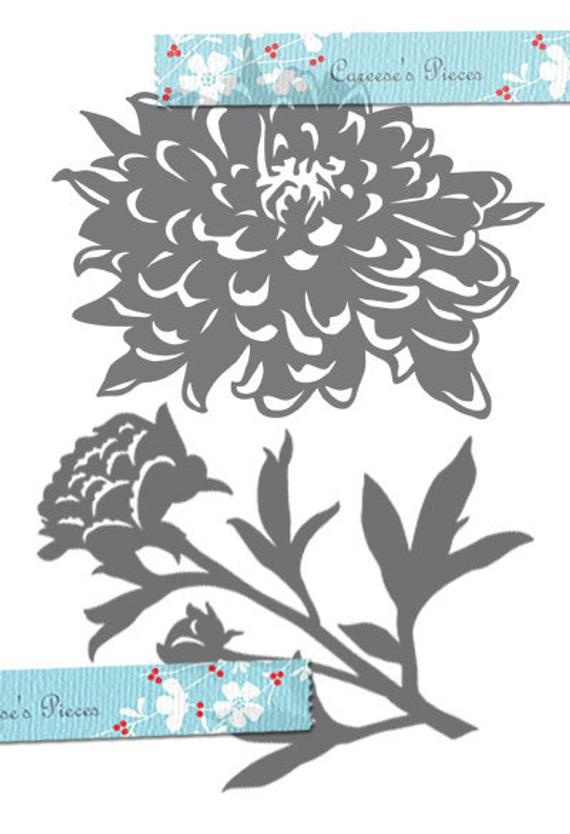 Peony svg #418, Download drawings