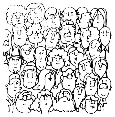 People coloring #1, Download drawings