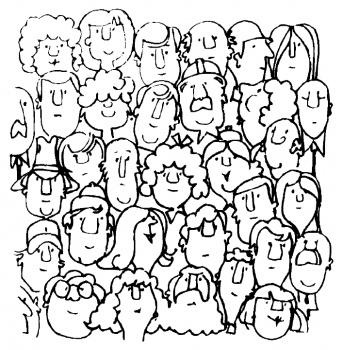 People coloring #13, Download drawings