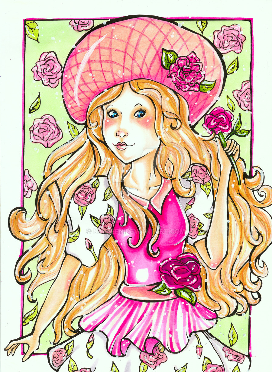 Peppermint Rose coloring #5, Download drawings