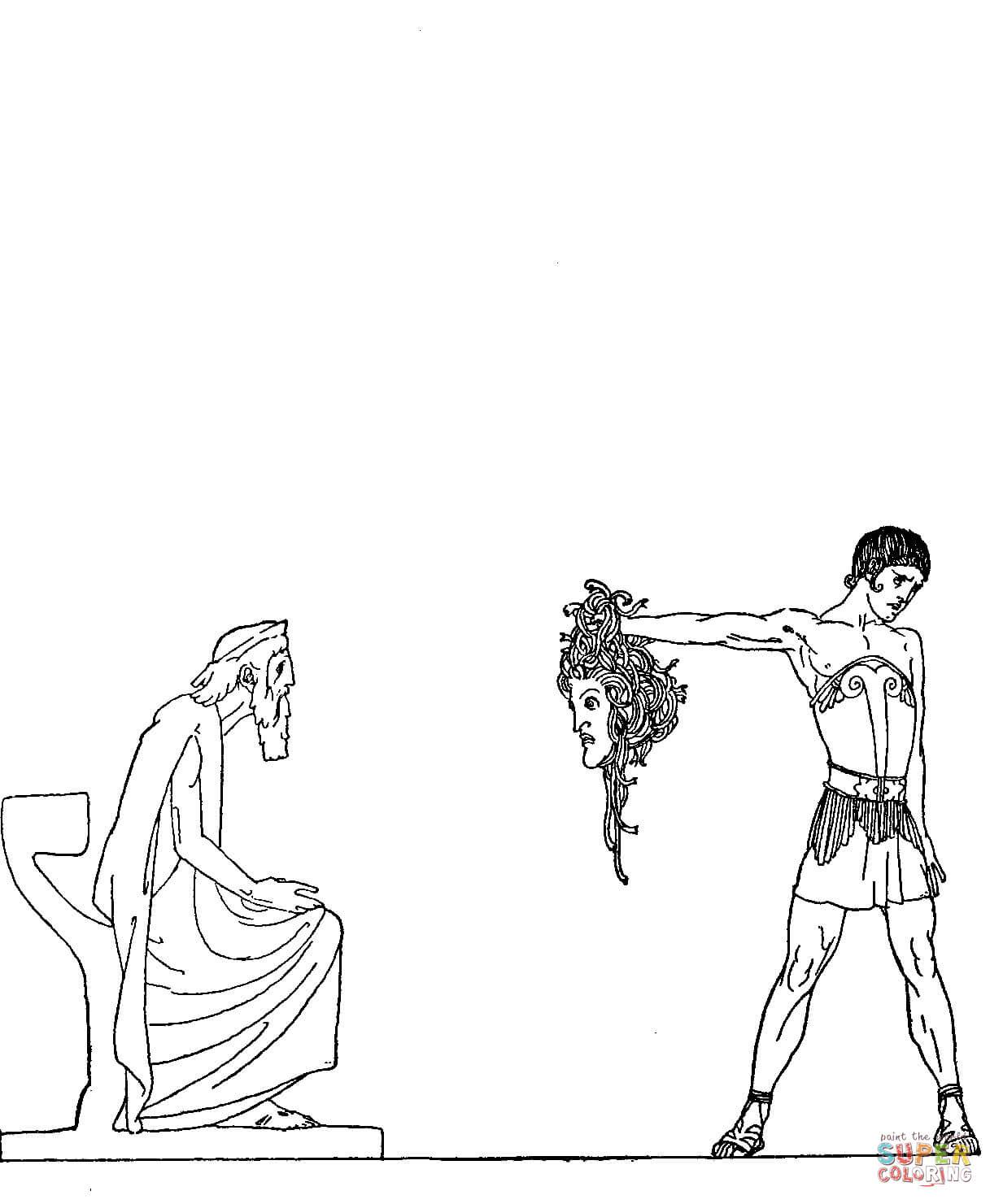 Perseus coloring #16, Download drawings