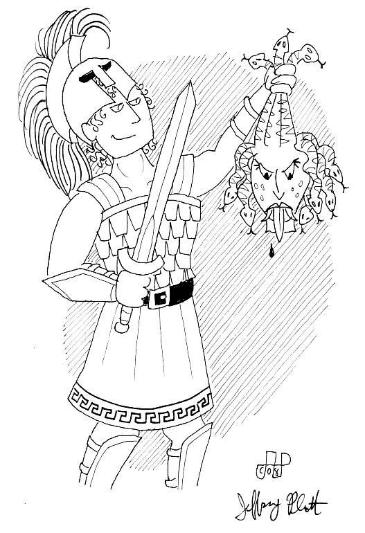 Perseus coloring #19, Download drawings