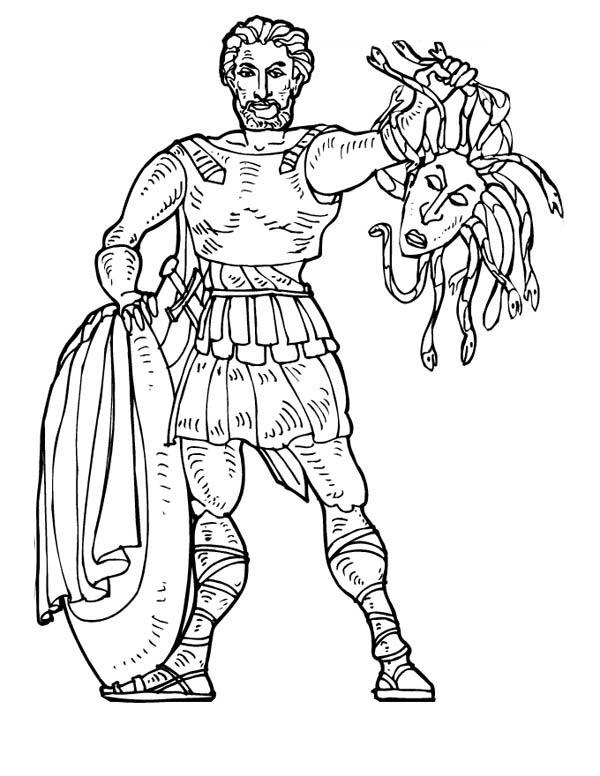 Perseus coloring #3, Download drawings
