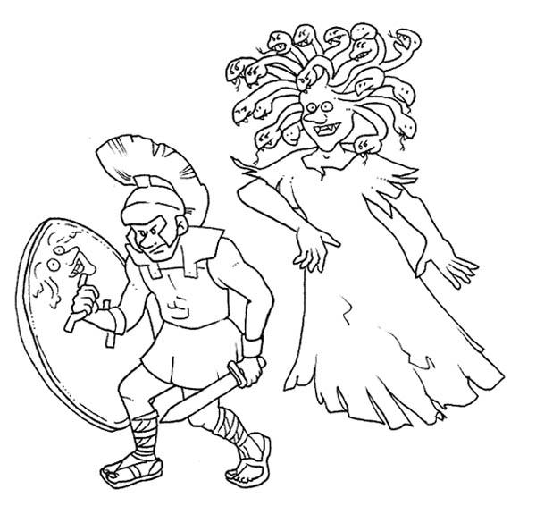 Perseus coloring #4, Download drawings