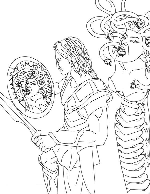 Perseus coloring #6, Download drawings