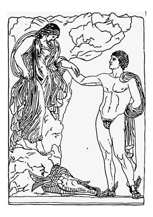 Perseus coloring #18, Download drawings