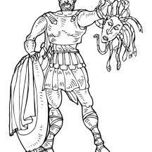 Perseus coloring #7, Download drawings