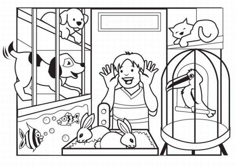 Shop coloring #17, Download drawings