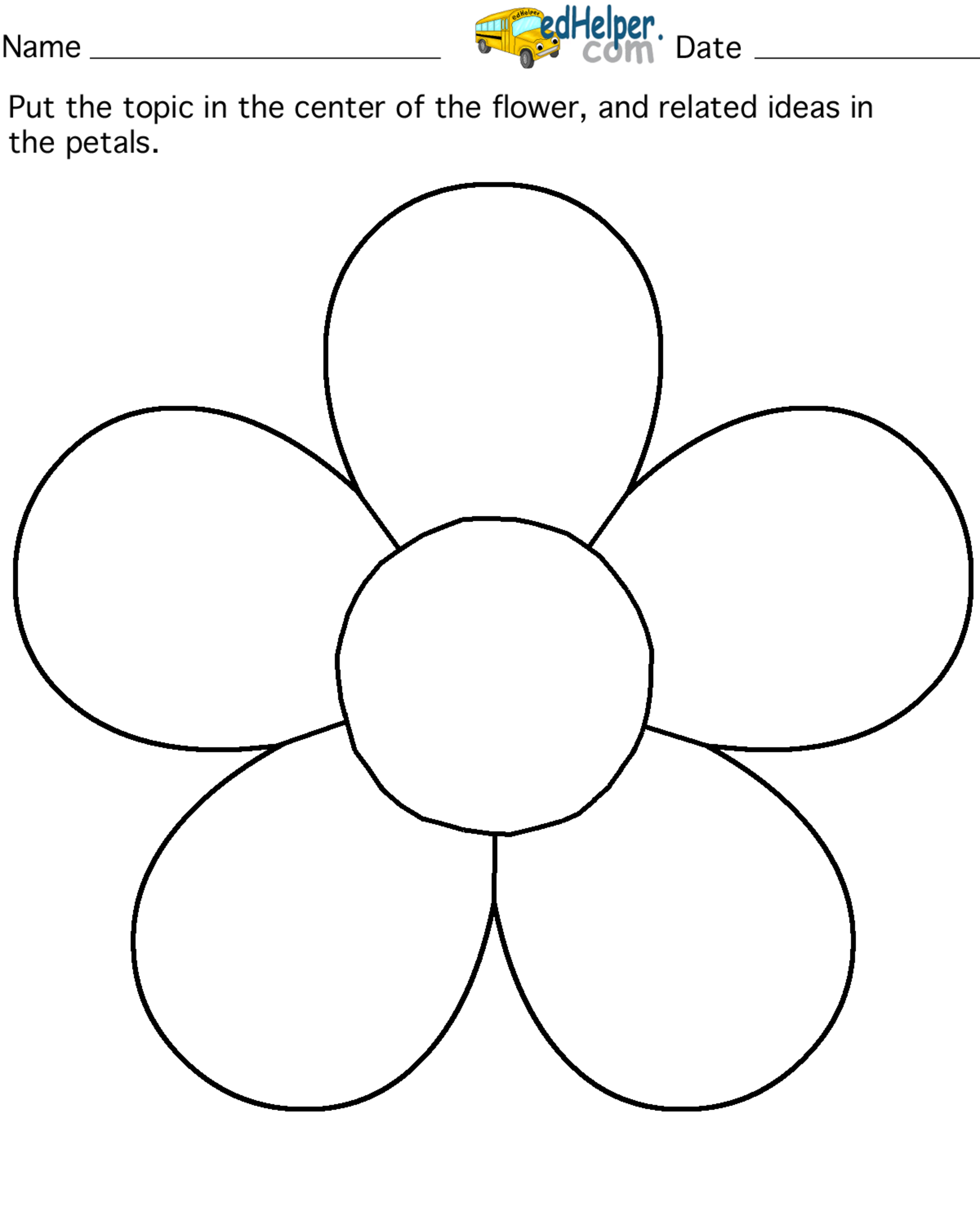 Petals coloring #4, Download drawings