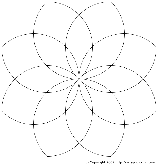 Petals coloring #7, Download drawings