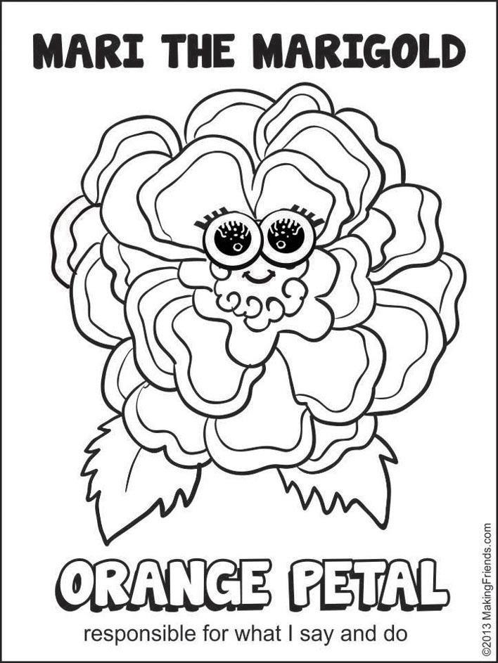 Petal coloring #1, Download drawings