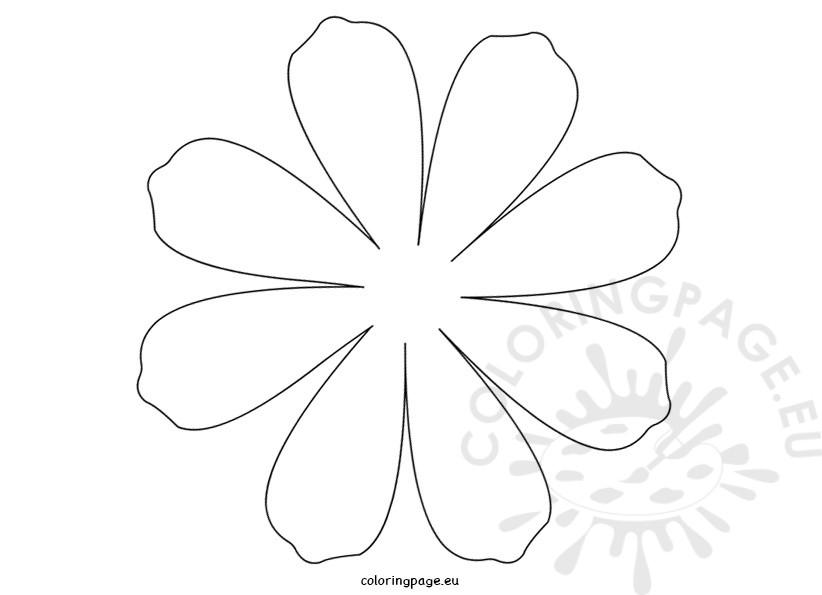 Petal coloring #7, Download drawings