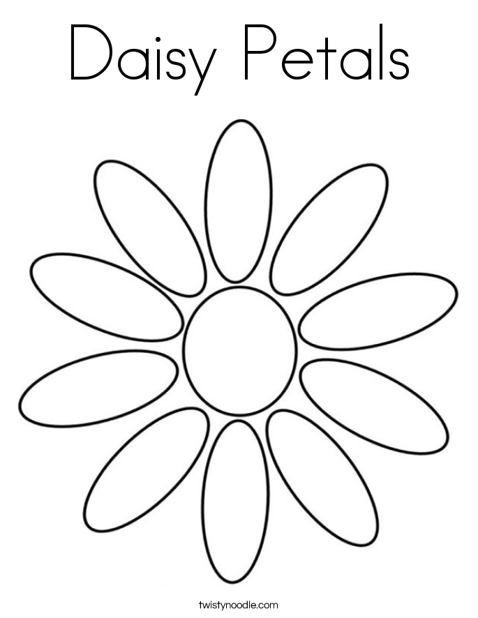 Petals coloring #1, Download drawings