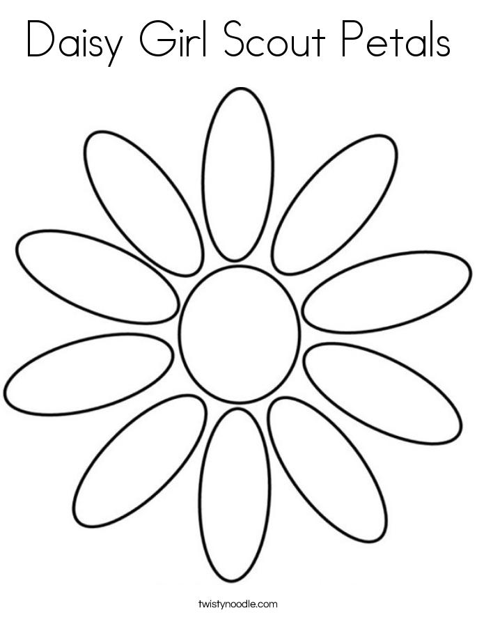 Petal coloring #19, Download drawings