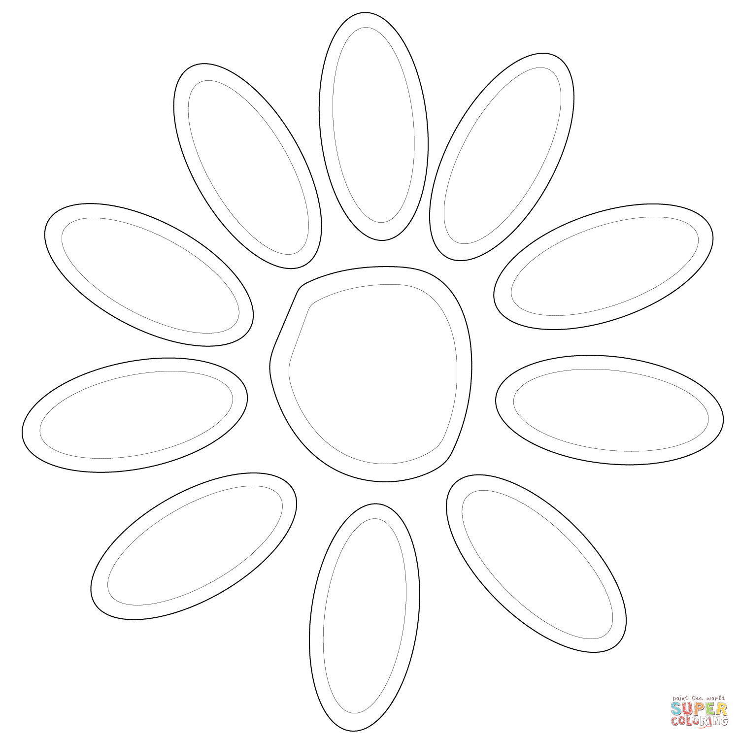 Petals coloring #2, Download drawings