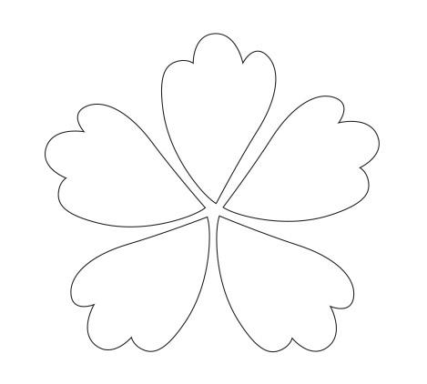 Petal coloring #6, Download drawings