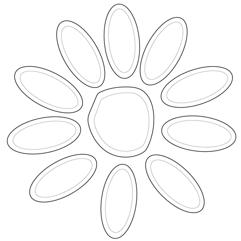 Petals coloring #12, Download drawings