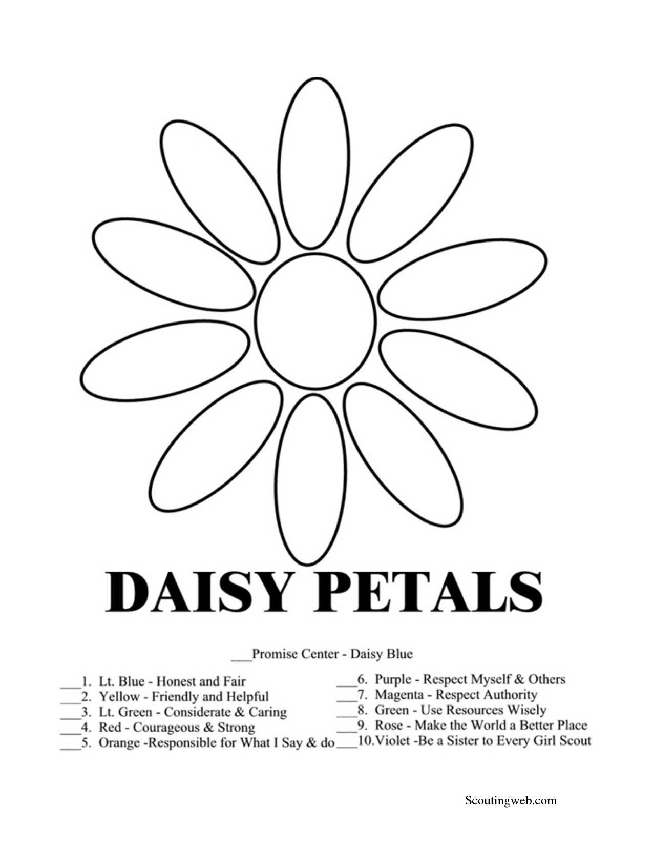 Petals coloring #16, Download drawings
