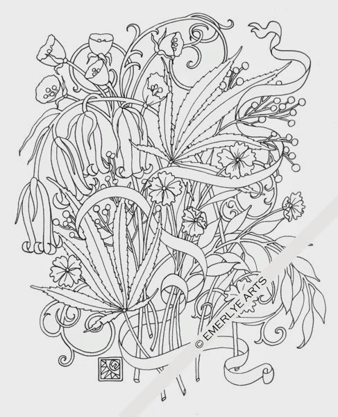 Cannabis coloring #20, Download drawings