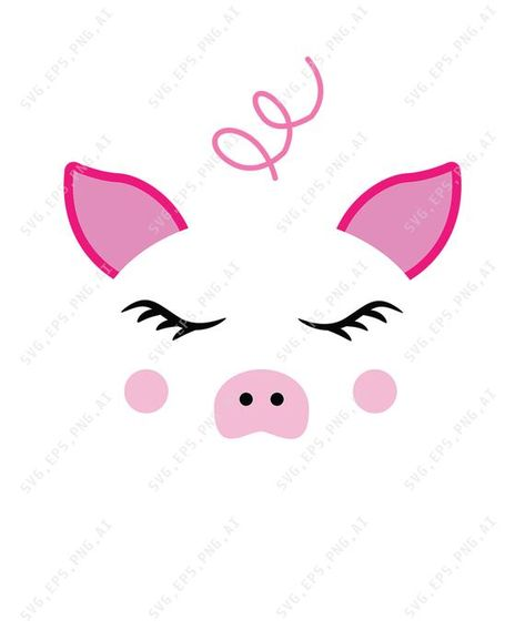 pig face svg #421, Download drawings