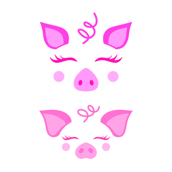 pig face svg #416, Download drawings