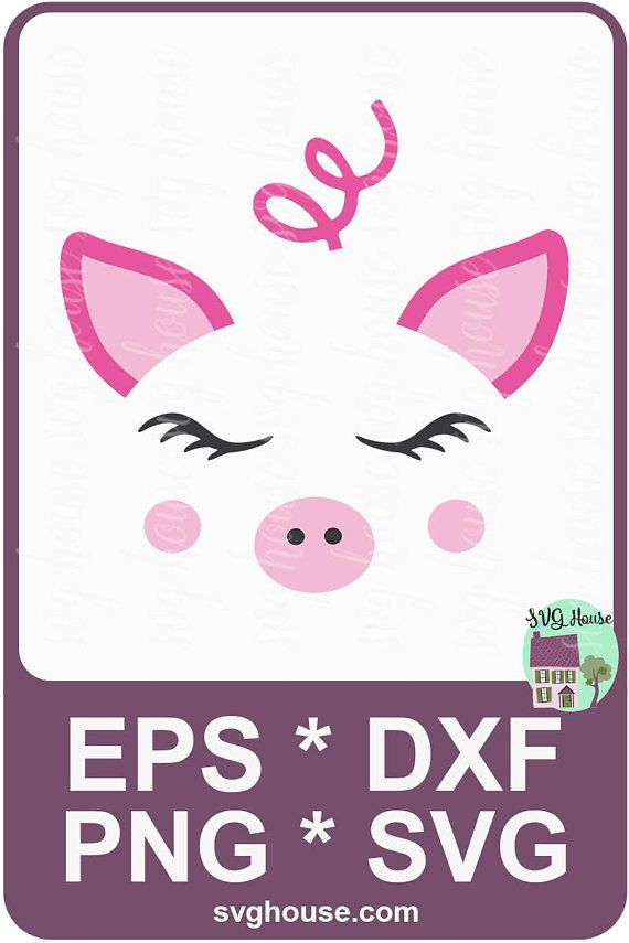 pig face svg #418, Download drawings