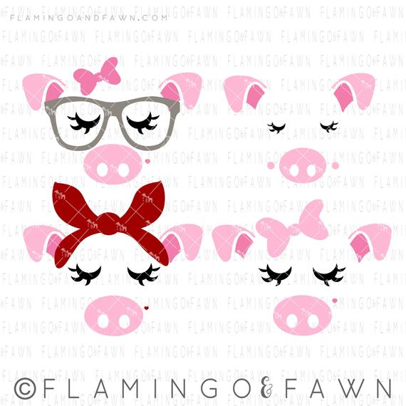 pig face svg #391, Download drawings