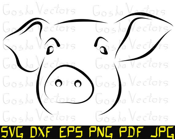 pig face svg #415, Download drawings