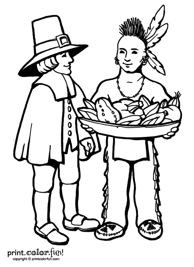 Pilgrim coloring #11, Download drawings